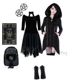 """""""A spell trip outfit."""" by sophiepinkcheeks on Polyvore featuring Boohoo, Miss Selfridge, Zimmermann, Marina Fini and Killstar"""