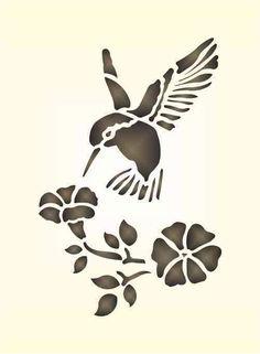 Bird Stencil, Animal Stencil, Stencil Art, Flower Stencils, Damask Stencil, Stencil Patterns, Stencil Designs, Art Colibri, Vogel Silhouette