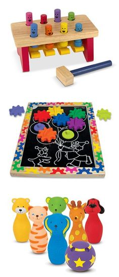 {Top Toys for Two-Year-Olds} Age two begins a wonderful time of imaginative play! See our list of top toys for your little one: http://www.melissaanddoug.com/toys-for-2-year-olds
