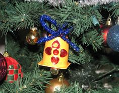 Danino yogurt cup Bell ornaments | Craft To Art