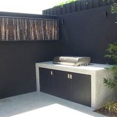 In situ concrete inbuilt barbecue and floors Howitt St Project Outdoor Rooms, Outdoor Living, Outdoor Decor, Concrete Outdoor Furniture, Diy Concrete, Outdoor Bbq Kitchen, Outdoor Kitchens, Backyard Projects, Backyard Ideas