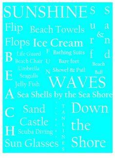 Cute! Can you tell I love the beach theme.
