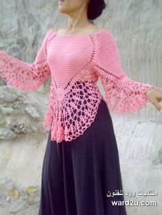 Crochet Lace Poncho Shirts 47 New Ideas Col Crochet, Gilet Crochet, Crochet Shirt, Crochet Jacket, Crochet Woman, Crochet Cardigan, Crochet Baby, Crochet Summer, Lace Jacket