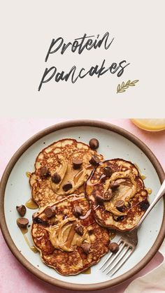High Protein Snacks, High Protein Recipes, Good Healthy Recipes, Healthy Breakfast Recipes, Brunch Recipes, Healthy Snacks, Healthy Oatmeal Breakfast, Tasty Pancakes, Simply Recipes