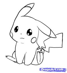 how to draw pikachu, pokemon step 7