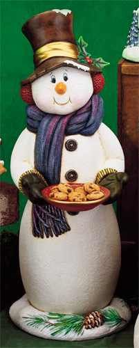 Creative Paradise Large Snowman with Cookie Plate by Mirage76, $25.99