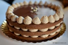 Tort Cappuccino cu crema de mascarpone si lichior de cafea coffee cake recipe with mascarpone and chocolate Romanian Desserts, Romanian Food, Mascarpone Recipes, Food Cakes, Something Sweet, Coffee Cake, Tiramisu, Cake Recipes, Cake Decorating