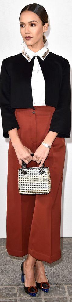 Jessica Biel veste Dior - Christian Dior show