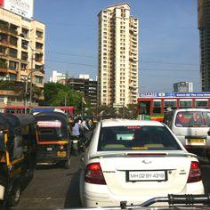 Busy road in Mumbai