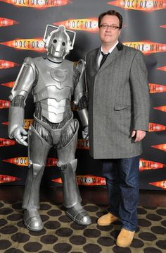 Russell T Davies and a Cyberman