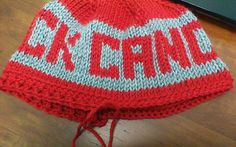 Adventures of a Craftaholic: F*ck Cancer Hat Pattern, In Tunisian Crochet