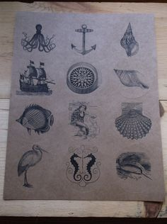 Vintage Victorian Nautical Round Label Stickers by ThePaperSnail, $5.00