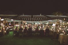 Tented wedding reception | Les Amis Photo | see more on: http://burnettsboards.com/2015/05/midsummer-nights-dream-tuscany-wedding/