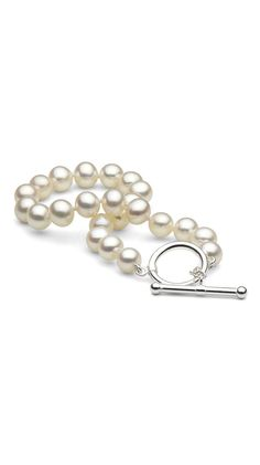 White Freshwater Pearl Bracelet by Pure Pearls. Someone please tell my husband I want this for His birthday