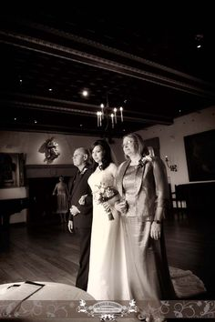 Parents and Bride down the aisle. Photo by: FRPhoto