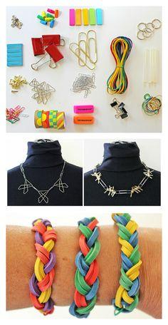 School/Office Supply Jewelry   BABBLE DABBLE DO   Turn your school and office supplies into jewelry why dontcha? #diy #Diyjewelry #backtoschool #backtoschoolcrafts