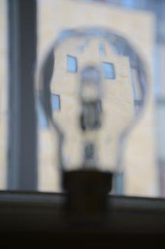 Glass photography~  #lightbulb #destortion #window