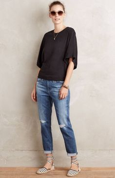 NEW Anthropologie AG Adriano Goldschmied The Beau Destroyed Slouchy Skinny Jeans  | eBay