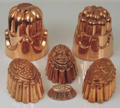 Victorian copper baking molds, every kitchen should have at least one!
