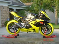 Black and Yellow Suzuki GSXR