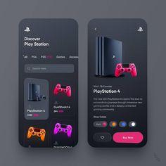 --- 🤩 PlayStation Store Mobile App Design (Dark Mode) us! Dashboard Ui, Dashboard Design, Ui Ux Design, Identity Design, Application Ui Design, Layout Design, Ui Design Mobile, Design Social, Design Food