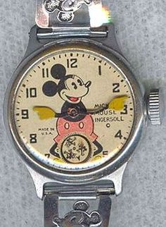 The Original Mickey Mouse Watch: 11000 Sold in One Day & Robert Langdon& Inferno Dan Brown, Original Mickey Mouse, Unusual Clocks, Mickey Mouse Watch, Vintage Disney, Cool Items, The Originals, Children's Watches, Main Character