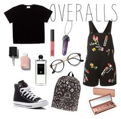 """Untitled #41"" by popmiha on Polyvore featuring Giamba, Converse, Chanel, NARS Cosmetics, Urban Decay, Serge Lutens, TrickyTrend and overalls"