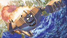 Iron Giant by Alex Ross - Geek Art. Follow back if similar.- #comics #art