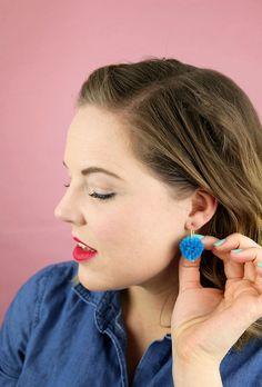 Make Your Own DIY Pom Pom Earrings