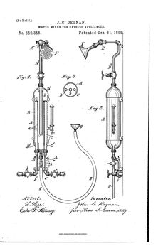 Patent US552356 - Water mixer for bathing Patent Pending, Mixer, Bathing, Bath, Swim, Bathroom, Stand Mixer, Bathrooms