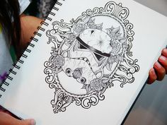 This would make such an awesome tattoo... #starwars #stormtrooper #art