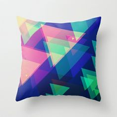TRIANGLES Throw Pillow by Nika