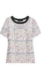 Marc by Marc Jacobs Geo Maze printed silk top