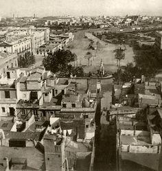 Plá de Palau 1860 Barcelona, Old Photos, Paris Skyline, Dolores Park, Spain, Black And White, Travel, Vintage Photographs, Antique Photos