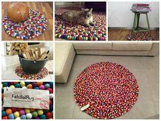 Jeder einzigartige, mehrfarbige Alisha-Teppich has seinen ganz besonderen bunten Look. Mit seinen roten, blauen, gelben, braunen und grünen Bällchen passt er so gut wie in jeden Raum.