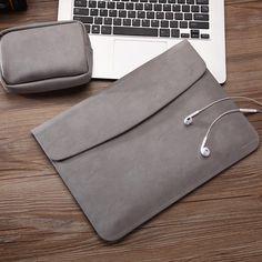 Slim Waterproof PU Leather Macbook Air Case
