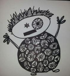 tekeningen zwart wit van gerjanna