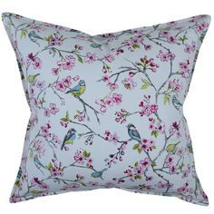 Our Blossom Pink scatter cushion has a delicate design of finches perched on the branches of cherry blossoms Finches, Baby Bedroom, Scatter Cushions, Cherry Blossoms, Beautiful Bedrooms, Kids Furniture, Delicate, Pillows, Pink