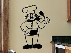 kitchen wall decals kitchen wall decor chef french chef kitchen wall decal wall sticker removable kitchen decoration vinyl sign wall decor - Kitchen Wall Decor