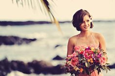 A Lush, Tropical Wedding in Maui, Hawaii Amsale Bridesmaid, Bridesmaid Dresses, Coral Wedding Colors, Sunday Kind Of Love, Succulent Images, Hawaii Wedding, Maui, Hawaiian, Succulents