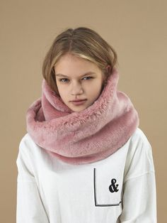 15 fw fur muffler Pink