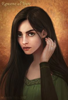 Michelle Tolo Artwork: Egwene al'Vere, from the Wheel of Time book series by Robert Jordan.