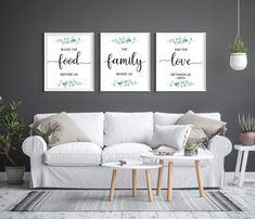 Kitchen Art Prints, Kitchen Wall Art, Kitchen Signs, Kitchen Ideas, 3 Piece Wall Art, Wall Art Sets, Bedroom Prints, Bedroom Wall, Bible Verse Wall Art