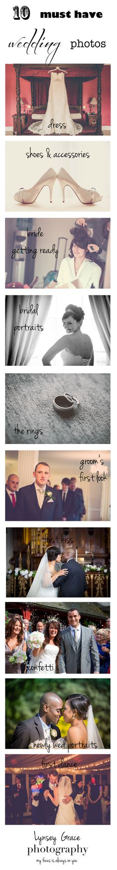 10  must have wedding photos  www.lynseygracephotography.com