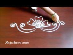 simple rangoli designs without dots - easy small kolam designs - beginners muggulu designs - YouTube