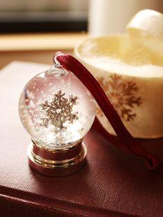 A snowy crystal