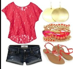 Cute summer look I would soo wear this I loveeee it!!! ( with a bathing suit underneath!) ;)