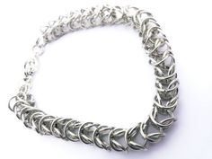 Chainmaille Bracelet  Silver Chainmaille Bracelet  by DameCreation #Chainmaille #shophandmade #etsy #HEPTEAM #shophandmade #etsy #accessories #etsymarket #etsymarketplace #fabulousetsyfinds #etsytreasuries&collections