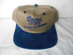 VTG Coors Light The Silver Bullet Trucker Hat Cap Snapback  Beer Suede Brim #McDowellEnterprises #OneSizeFitsMost