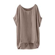 Hemlock Women Plus Size Shirt Short Sleeve Tops Summer Solid Blouses Summer Oversized T Shirt Irregular Hem Tops